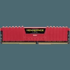 Memória DDR4 Corsair Vengeance LPX, 16GB (2x8GB) 2400MHz, Red, CMK16GX4M2A2400C14R