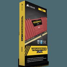 Memória DDR4 Corsair Vengeance LPX, 8GB 2400MHz, Red, CMK8GX4M1A2400C14R