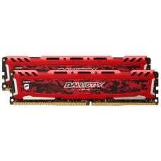 Memória DDR4 Crucial Ballistix Sport Lt, 16GB (2x8GB) 3000MHz, Red, BLS2K8G4D30AESEK