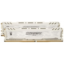 Memória DDR4 Crucial Ballistix Sport Lt, 16GB (2x8GB) 3200MHz, White, BLS2K8G4D32AESCK