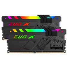 Memória DDR4 Geil EVO X II RGB, 16GB (2x8GB) 3200MHz, ROG CERTIFIED, BLACK, GREXSR416GB3200C16ADC