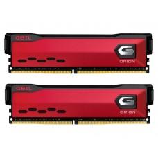 Memória DDR4 Geil Orion, 16GB (2x8GB) 3600MHz, Vermelho, GAOR416GB3600C18BDC