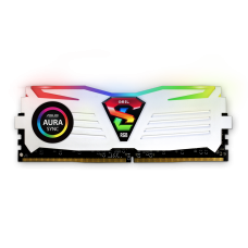 Memória DDR4 Geil Super Luce RGB, 8GB, 3600MHZ, White, GALWS48GB3600C18BSC