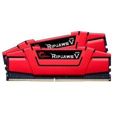 Memória DDR4 G.Skill Ripjaws V, 16GB (2x8GB) 3000MHz, Vermelho, F4-3000C16D-16GVRB
