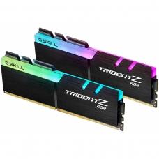 Memória DDR4 G.Skill Trident Z, RGB, 32GB (2x16GB) 3000MHz, F4-3000C16D-32GTZR