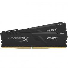 Memória DDR4 Kingston HyperX Fury, 32GB (4x8GB) 2666MHz, Black, HX426C16FB3/8 x 4