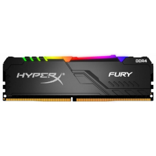 Memória DDR4 Kingston HyperX Fury RGB, 16GB 3200MHz, Black, HX432C16FB3A/16