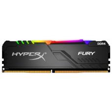 Memória DDR4 Kingston HyperX Fury RGB, 8GB 3000MHz, Black, HX430C15FB3A/8