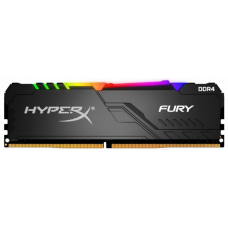 Memória DDR4 Kingston HyperX Fury RGB, 8GB 3200MHz, Black, HX432C16FB3A/8