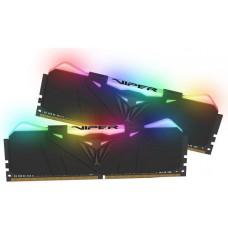 Memória DDR4 Patriot Viper RGB, 16GB (2x8GB) 3000MHz, Black, PVR416G300C5K