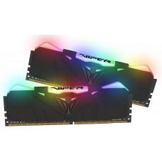 Memória DDR4 Patriot Viper RGB, 32GB (2x16GB) 3600MHz, Black, PVR432G360C8K