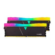 Memória DDR4 V-Color Prism Pro, 16GB (2x8GB), 3600Mhz, RGB, Black, TL8G36818D-E6PRKWK