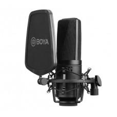 Microfone BOYA BY-M1000, Com Filtro Pop, XLR, Black