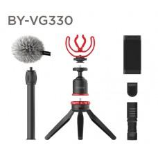 Microfone para Smartphone BOYA BY-VG330, Com Tripé, TRS/TRRS, Black