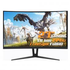 Monitor Gamer GameMax 27 Pol Curvo, Full HD, 144Hz, 1ms, Black, GMX27C144BR PRETO