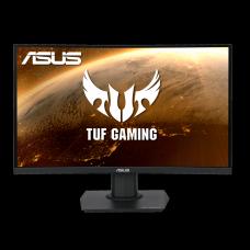Monitor Gamer Asus TUF Gaming Led 23,6 Pol, Curvo, Full HD, 165Hz, 1ms, VA, FreeSync Premium, Shadow Boost, VG24VQE
