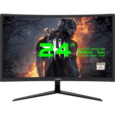 Monitor Gamer GameMax 24 Pol Curvo, Full HD, 144Hz, 1ms, Black, GMX24C144BR