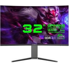 Monitor Gamer GameMax 32 Pol Curvo, WQHD, 165Hz, 1ms, Black, GMX32C165Q