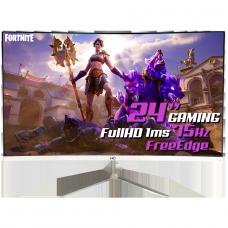 "Monitor Gamer HQ 24"", Curvo, 1MS, Full HD, Free Edge, HDMI, White, 24 HQ CURVO WHITE - Open Box"