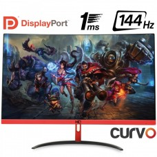 Monitor Gamer HQ Curvo 24 Pol, Full HD, 144Hz, 1ms, Freesync, HDMI, Display Port - Open Box