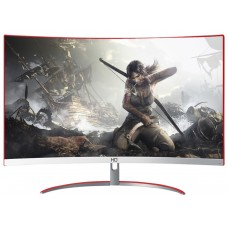 Monitor Gamer HQ Curvo 24 Pol, Full HD, 144Hz, 1ms, Freesync, HDMI, Display Port, White - Open Box