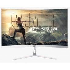 Monitor Gamer HQ Curvo 24 Pol, Full HD, 75Hz, 5ms, Freesync, HDMI, Branco
