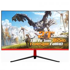 Monitor Gamer HQ Curvo 27 Pol, 165Hz, 1ms, Freesync, Display Port, HDMI, Borda Ultra Fina, 27HQ-LED CURVO RGB R3000 - Open Box