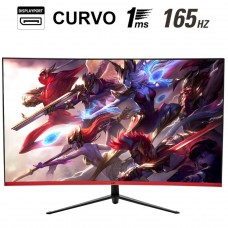 Monitor Gamer HQ Curvo 31.5 Pol, Full HD, 165Hz, 1ms, HDMI, Display Port
