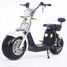Moto Elétrica RideMode ECO 1500w, Aluminium, White, EM-04-BW