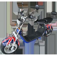 Moto Elétrica RideMode ECO 3000w, Aluminium, UK Flag, EM-03-RU