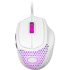 Mouse Gamer Cooler Master MM720, 16.000 DPI, 6 Botões, RGB, Matte White, MM-720-WWOL1