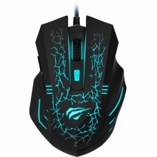Mouse Gamer Havit Magic Eagle Lighting 6 Botões 2400 DPI Preto
