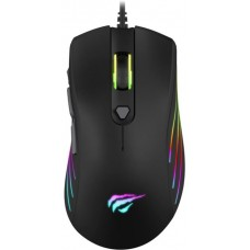 Mouse Gamer Havit MS1002 RGB, 7 Botões, 3200 DPI, Black