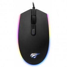 Mouse Gamer Havit MS1003 RGB 4 Botões 2400 DPI Preto