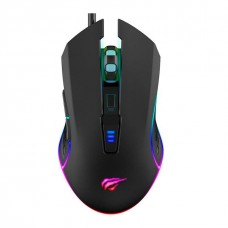 Mouse Gamer Havit MS1018 RGB, 6 Botões, 3200 DPI, Black