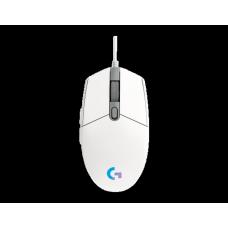 Mouse Gamer Logitech G203 Lightsync RGB, 6 Botões Programáveis, 8000 DPI, White, 910-005794