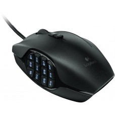 Mouse Gamer Logitech G600 MMO, 8200 DPI, 20 botões, Black, 910-003879