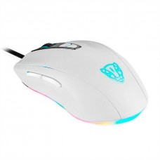 Mouse Gamer Motospeed V60 7 Botões 5000 DPI RGB, White, FMSMS0006BRO