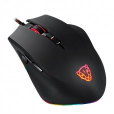 Mouse Gamer Motospeed V80, 5000 DPI, RGB, 7 Botões, Black, FMSMS0061PTO