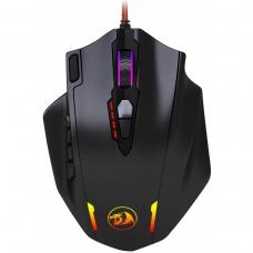Mouse Gamer Redragon Impact M908 RGB, 12400 DPI, 12 botões programáveis, Black