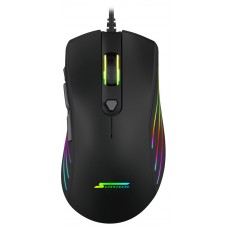 Mouse Gamer SuperFrame, BIG BOSS, 12000 DPI, RGB, 7 Botões, Black, Sensor Pixart 3360