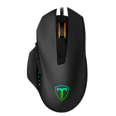 Mouse Gamer T-Dagger Warrant Officer RGB, 4800 DPI, 6 Botões, Black, T-TGM203
