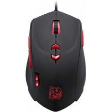 Mouse Gamer Thermaltake Theron, 4000DPI, 8 Botões, Black e Red MO-TRN006DTM