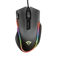 Mouse Gamer Trust Laban RGB, 15000 DPI, 8 Botões Programáveis, Black, GXT188