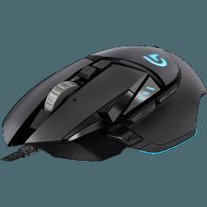 Mouse Gamer Logitech Proteus Spectrum G502 RGB 11 Botões 12000 DPI Ajuste de Peso Preto