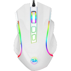 Mouse Redragon Gamer Griffin M607 RGB, 7200 DPI, 6 Botões, White