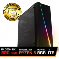 Pc Gamer Custo x Benefício 2020 AMD Ryzen 5 3500 / Radeon Rx 580 8GB / DDR4 8GB / HD 1TB