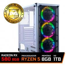 Pc Gamer Custo x Benefício 2020 AMD Ryzen 5 3500 / Radeon Rx 580 8GB / DDR4 8GB / HD 1TB