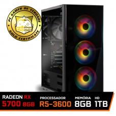 Pc Gamer Ideal 2019 Amd Ryzen 5 3600 / Radeon RX 5700 8GB Dual Fan OC / DDR4 8GB RGB 3000Mhz / HD 1TB / 600W