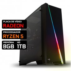 Pc Gamer T-Commander Lvl-6 Amd Ryzen 5 3500 / Radeon RX 570 4GB / DDR4 8GB / HD 1TB / 600W
